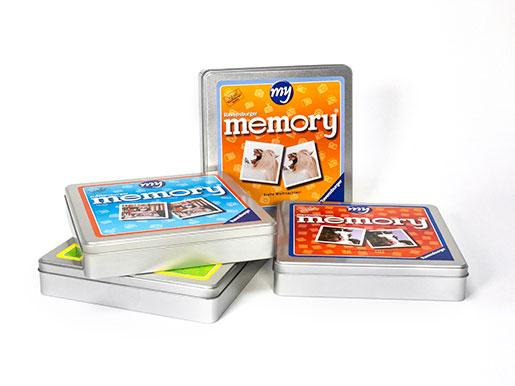 Foto memory giochi scatole diversita