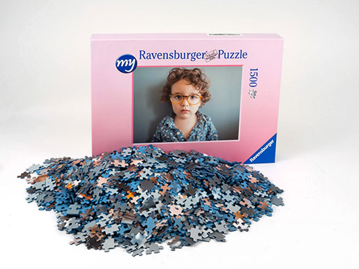 1500 pieces photo puzzle box and puzzle pieces